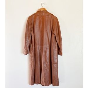 Lord & Taylor Jackets & Coats - Vintage 60's Leather Trench Coat - Cognac Brown